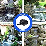 AEO 12V-18V DC Brushless Submersible Water Pump 898 GPH for Solar Fountain Koi Pond and Waterfall
