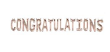 Amazon Com Congratulations Foil Letter Balloons 3d Banner