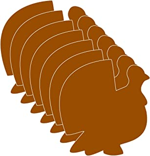 "product image for 3"" Turkey Single-Color Creative Paper Cut-Outs, 31 Cut-Outs in a Pack for Fall and Thanksgiving Décor and Kids' Craft Projects for School/Classroom."
