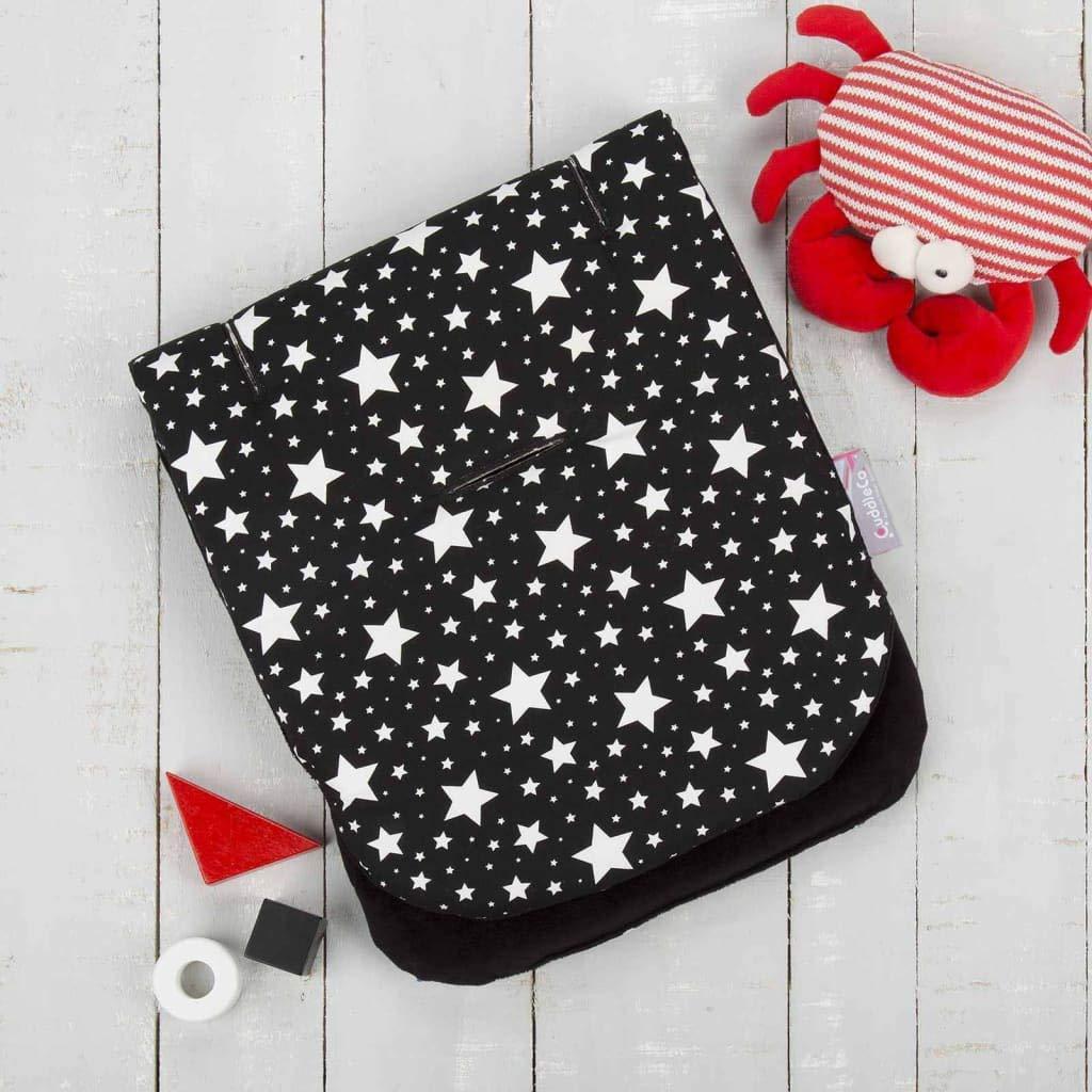 Comfi-Cush Memory Foam Stroller Liner - Black & White Stars by CuddleCo (Image #3)