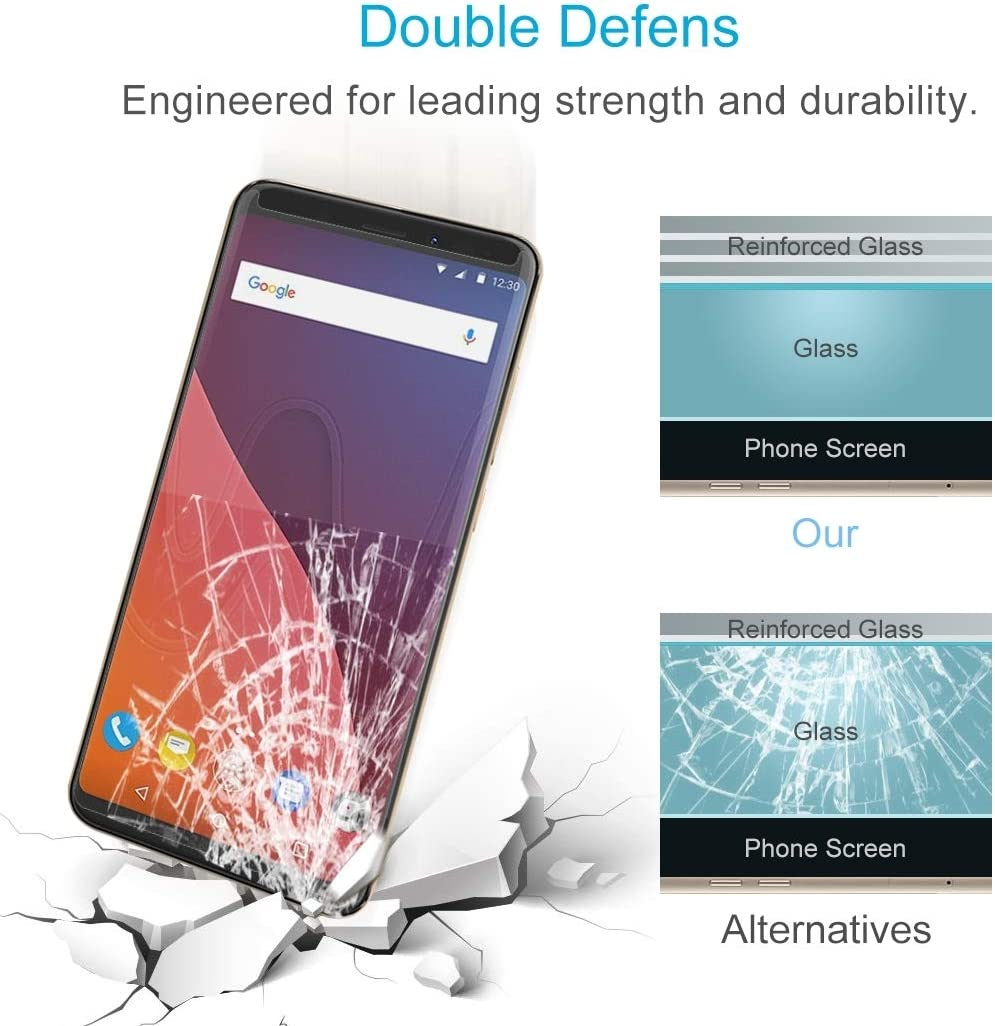 Surface Hardness 2.5D Explosion-Proof Tempered Glass Film Glass Film DESHENG Clear Screen Protector 100 PCS for Nokia XL 0.26mm 9H