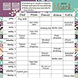 Goldistock -''Mom's Family Planner'' Eco-Friendly 2019 Large Wall Calendar - 12'' x 24'' (Open) - Thick & Sturdy Paper - Eliminates Busy Family Scheduling Conflicts