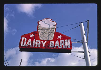 8 X 12 Photo Of Dairy Barn Ice Cream Sign Rt 36 Wathena