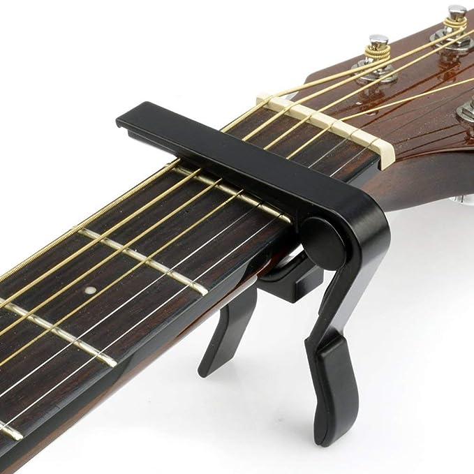 Debonice Afinador de Guitarra,Cejilla Guitarra Capo Aleación,Afinador Digital Española con Clip,Sintonizador 360°Rotación LCD Para Guitarra Bajo Violín ...