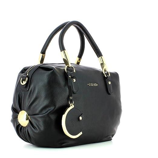 80b802903db32 LIU JO BAULETTO L AMELIE Handtasche Polyurethan Schwarz AXX001E0038-22222   Amazon.de  Schuhe   Handtaschen