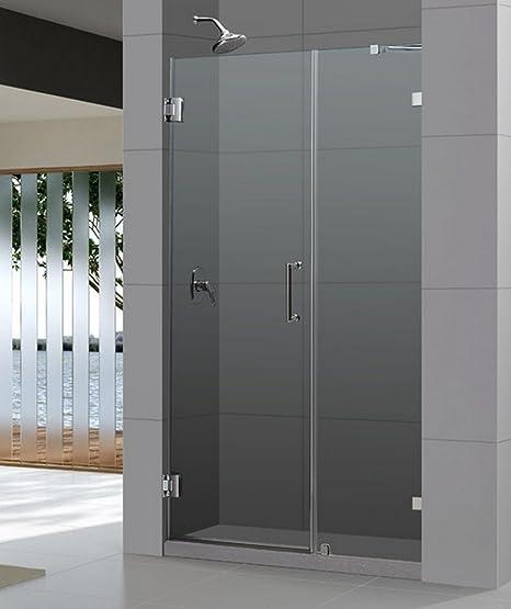 Frameless Hinged Shower Door And Panel.Amazon Com Radiance Frameless Hinged Shower Door Trim