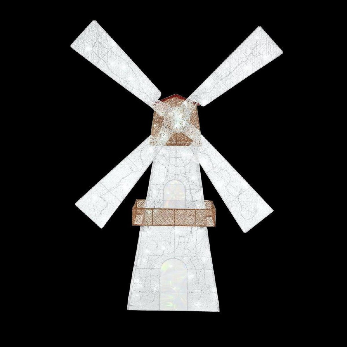6' Acrylic LED Lighted Twinkling Windmill Christmas Decoration