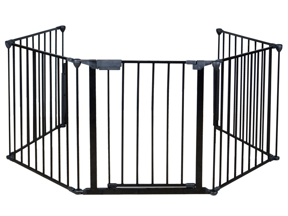 TMS Baby Safety Fence Hearth Gate BBQ Metal Fire Gate Fireplace Pet Dog Cat Fence