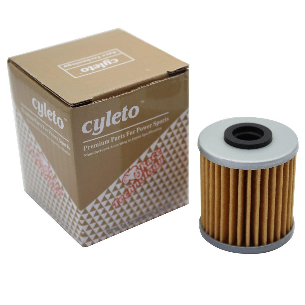 Pack of 4 Cyleto Oil Filter for SUZUKI FL125 SDW ADDRESS 2007 2008 2009 RMZ250 RMZ 250 2004 2005 2006 2007 2008 2009 2010 2011 2012 2013 2014 2015