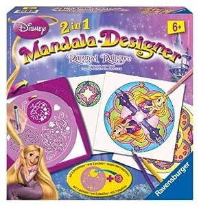 Ravensburger 2 in 1 Mandala Designer 29722 Rapunzel - Set para crear diseños decorativos [importado de Alemania]