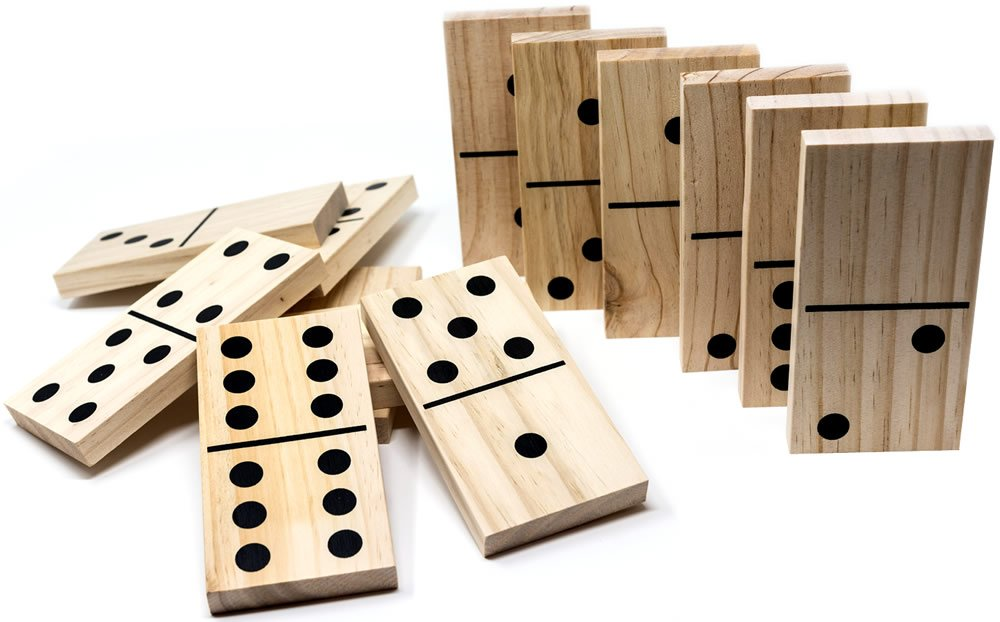 Jumbo / Giant Wooden Dominoes Brimtoy
