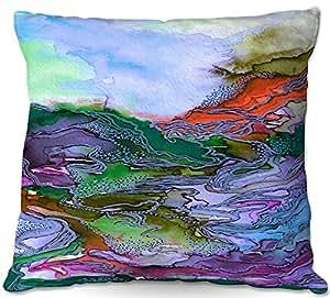 DiaNoche Designs Al aire libre Patio sofá manta almohadas by Julia Di Sano–Bring en Bohemia III, color azul