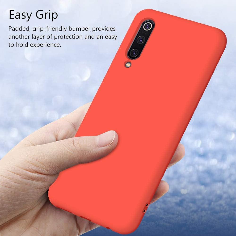 Silicona Gel TPU Case Goma Colores del Caramelo Anti-Rasgu/ño Resistente Ultra Suave Protectora Caso Funda para Xiaomi Mi 9 SE Carcasa Silicona Xiaomi Mi 9 SE Blanco