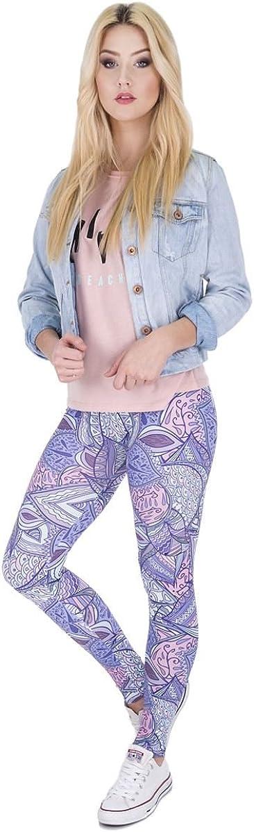 Kukubird Unicorn Flamingo Emoji Womens Gym Fitness Leggings Running Yoga Pilates Skinny Pants Tights Size 6-10 Stretchable