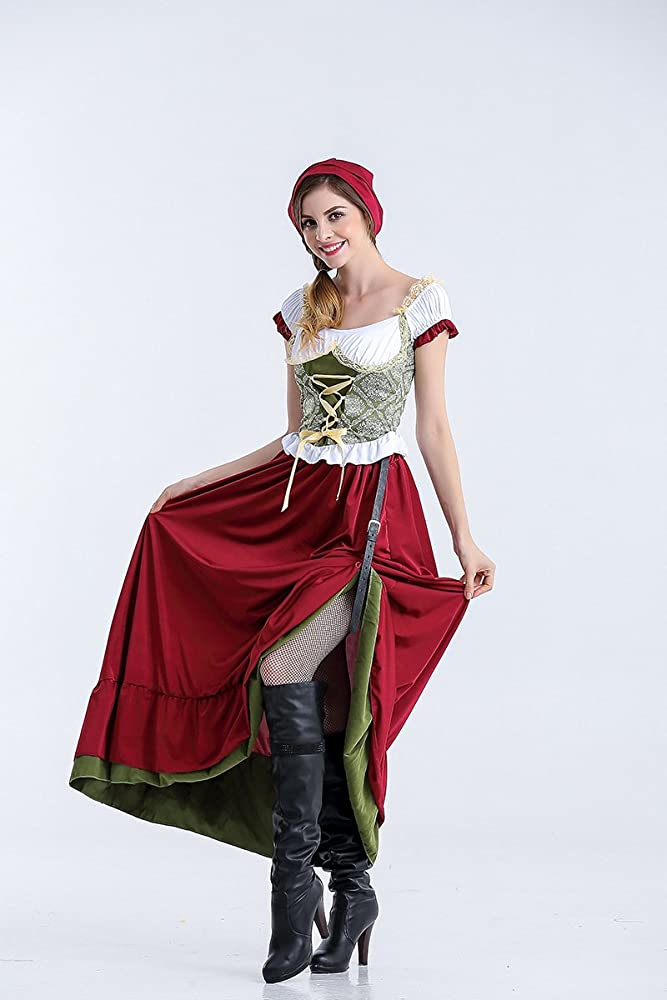 Ruanyi Disfraz de disfraz Oktoberfest alemán Disfraz de sirvienta ...