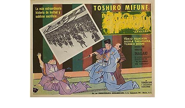 Amazon.com: Chushingura 1962 Mexican Scene Card: Entertainment Collectibles