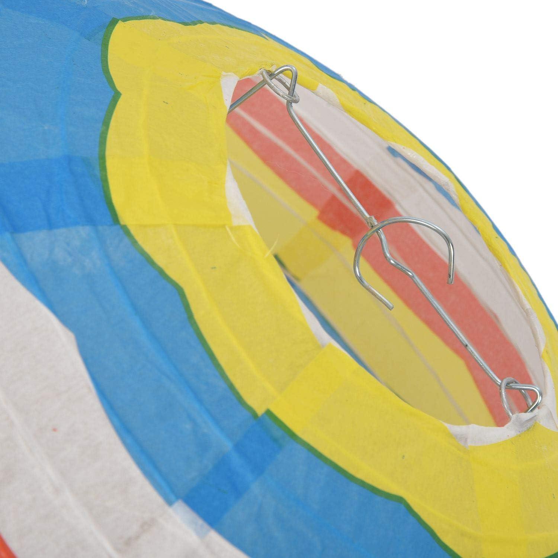 REFURBISHHOUSE 12 Zoll HEI? Luft Ballon Papier Laterne Lampenschirm Decken Leuchte Hochzeit Party Dekor Bunte Streifen
