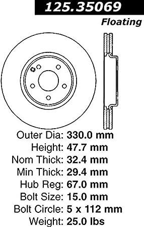 Centric 125.34135 Disc Brake Rotor