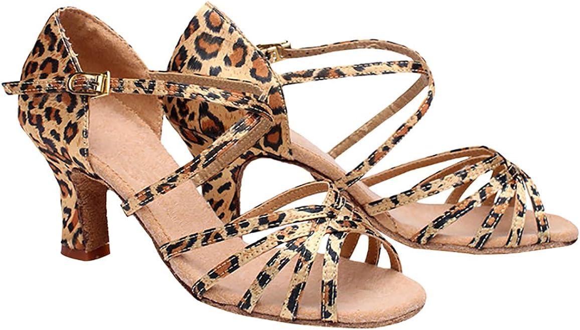 Zapatos de Baile Latino para Mujer - Zapatillas de Tacones de Salón Niñas Tango Salsa Jazz Contemporáneo Verano