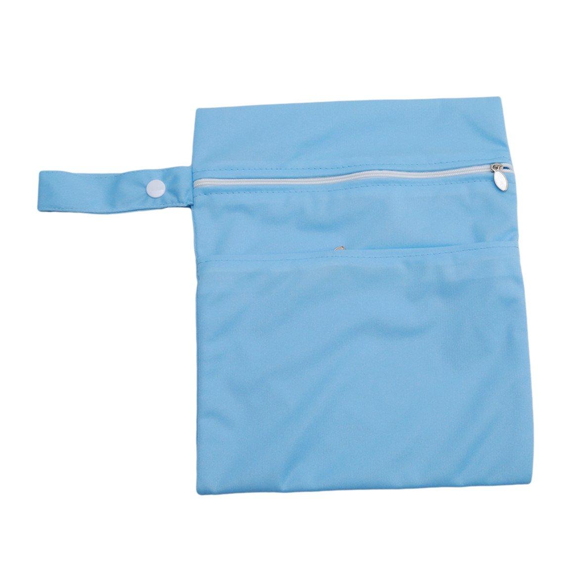 ODN Beutel Organisatoren Outdoor-Reisen wasserdichtes Diaper Bag mit Doppel Reißverschluss, Blau
