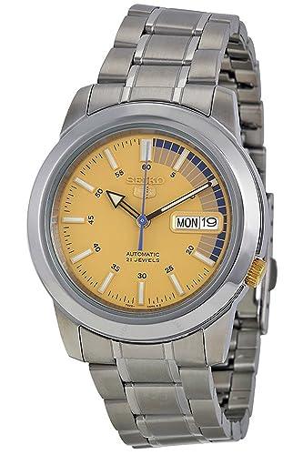 Reloj Seiko 5 Gent SNKK29K1 - Analógico Automático para Hombre en Acero inoxidable: Amazon.es: Relojes