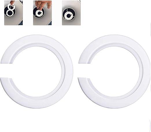White Metal Shade Reducing Ring Pack of 10
