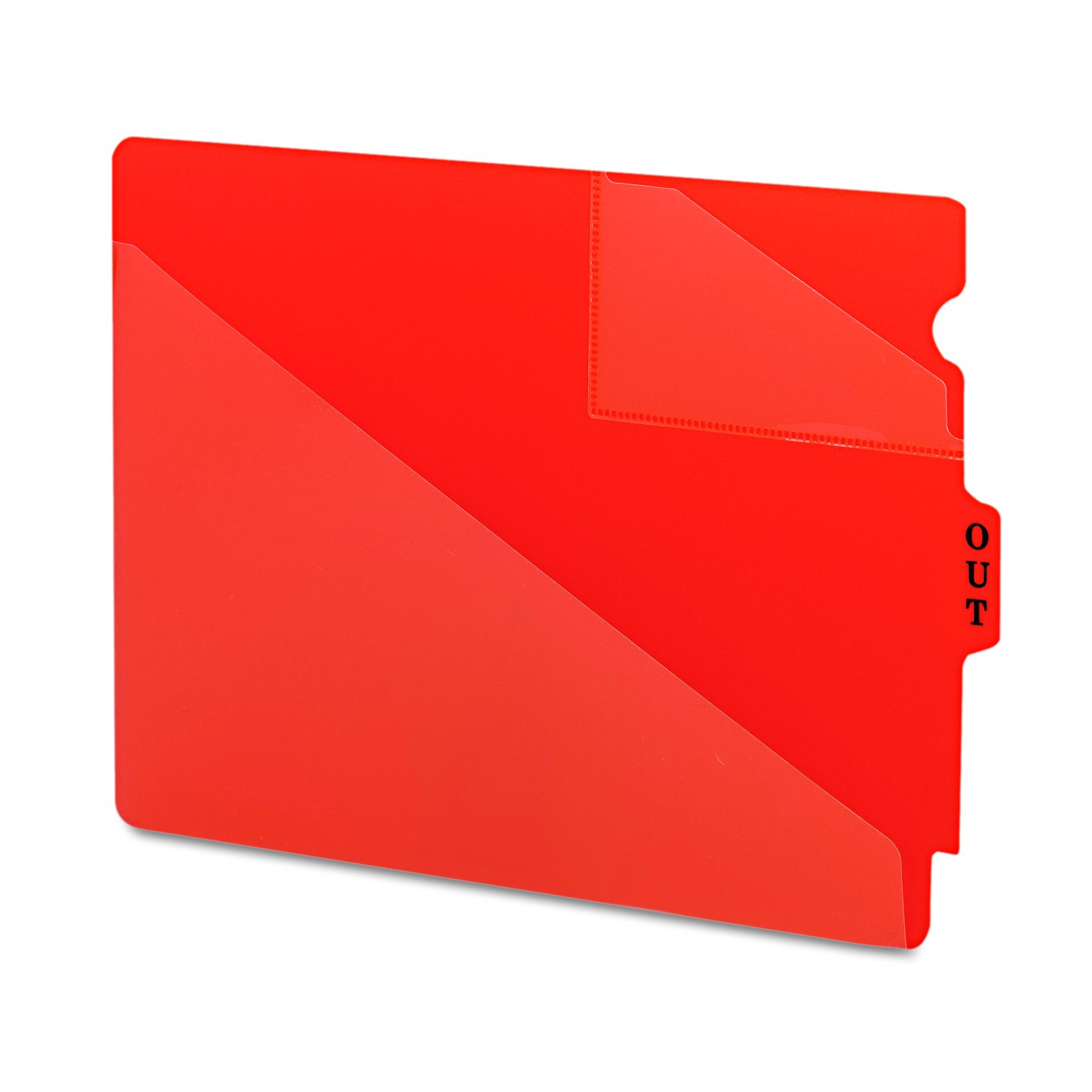 Letter Poly Box of 50 Smead 61960 Out Guides with Diagonal-Cut Pockets Red