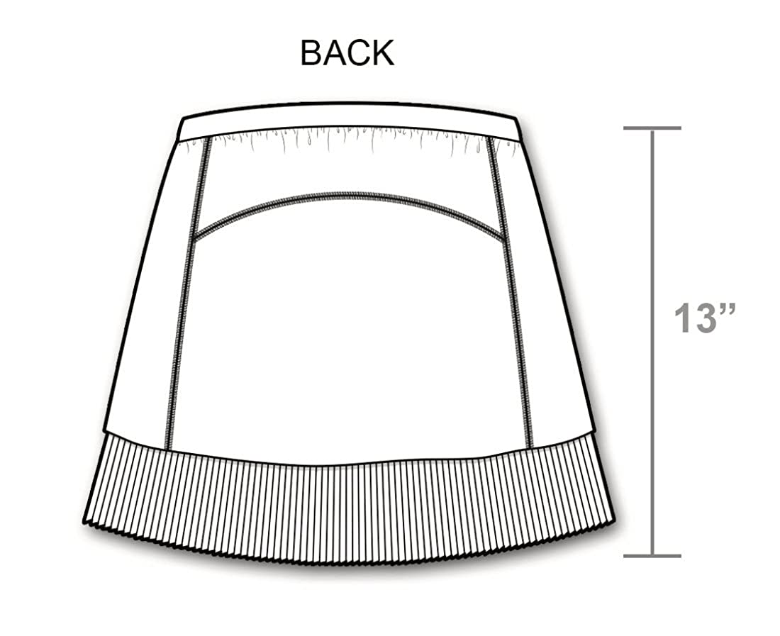 IBKUL Solid Crystal Pleat Skort 13-22000