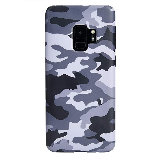 finest selection abd5e 153e1 Gray Black Camo Samsung Galaxy S9 Case - Cool Premium Protective Phone  Cases for Girls Men [Drop Test Certified Cover for Galaxy S9]