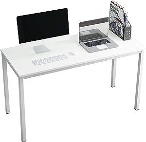 SDHYL 63 inches Contemporary Computer Desk Spacious Workstation Sturdy Writing Desk Meeting Desk, Black Walnut, S7-GCP2AC3-160WW