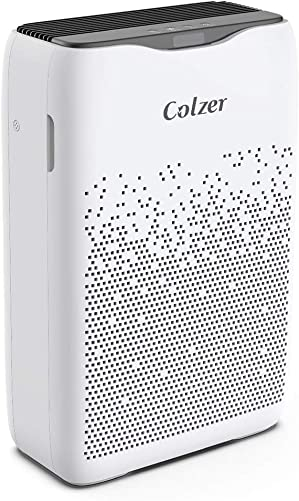 COLZER Air Purifier with True HEPA Air Filter, Air Purifier for Bedroom, for Spaces Up to 450 Sq Ft, Perfect for Home Office with Filter EPI-186