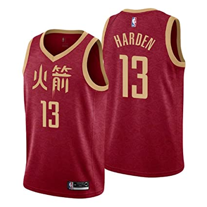 b30da6b3f Jordan Men's 2018-19 Houston Rockets #13 James Harden City Edition Red NBA  Swingman