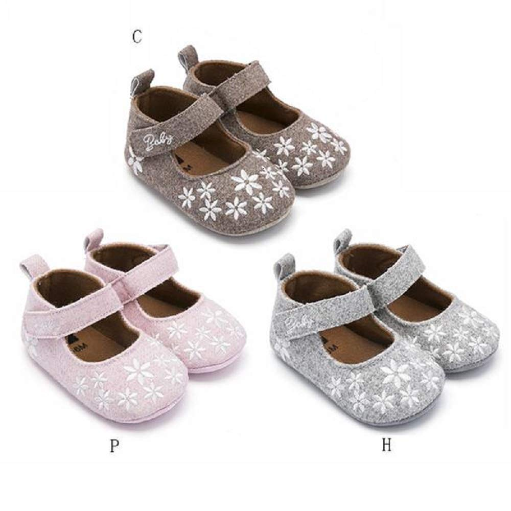 The Stock Pile Baby Girl Shoes Princess with Flowers Toddler Crib Infant Little Kid First