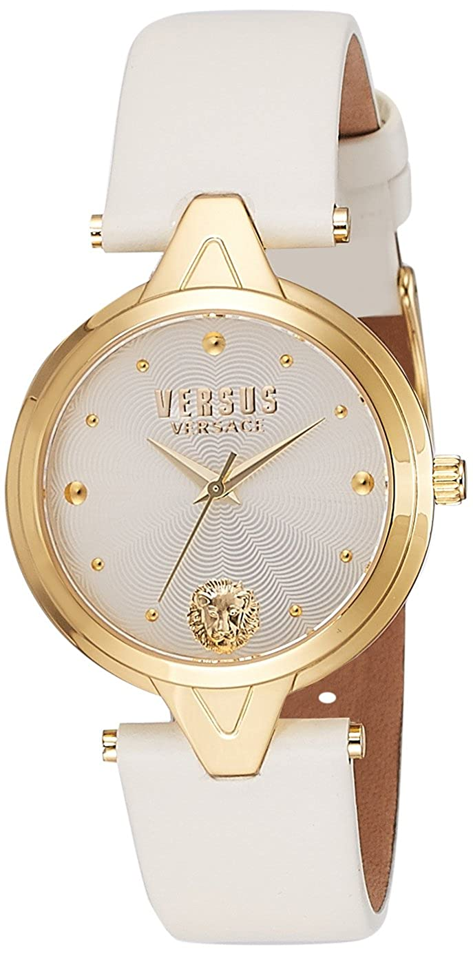 Versus by Versace Women 's ' V versus ' QuartzステンレススチールandレザーCasual Watch, Color : White (Model : sci120016 ) B0192A3DIY
