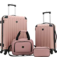 Deals on Travelers Club Midtown Hardside Spinner Luggage Set (4-Piece)