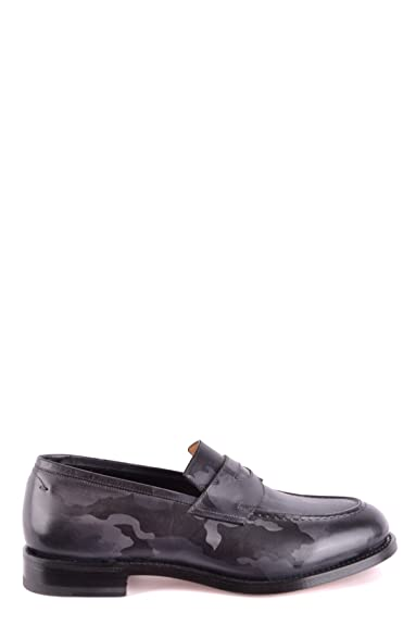 Men's MCBI267029O Grey Leather Loafers