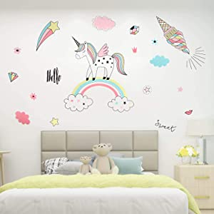Free Beanlieve 1 Pack Unicorn Wall Stickers