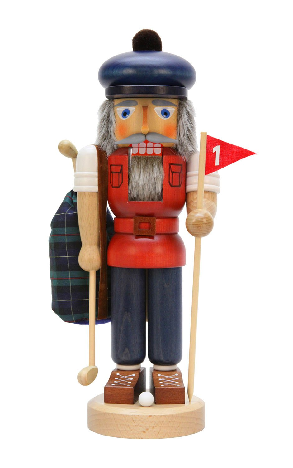 Alexander Taron Christian Ulbricht Decorative Golfer Nutcracker