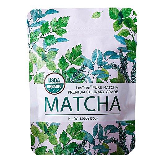 LosTree Matcha Tee in Premium Qualität Grüner Tee Matcha aus kontrolliertem Bio-Anbau Ceremonial Grade Grüntee Pulver 100% ökologisch Matcha (30g)
