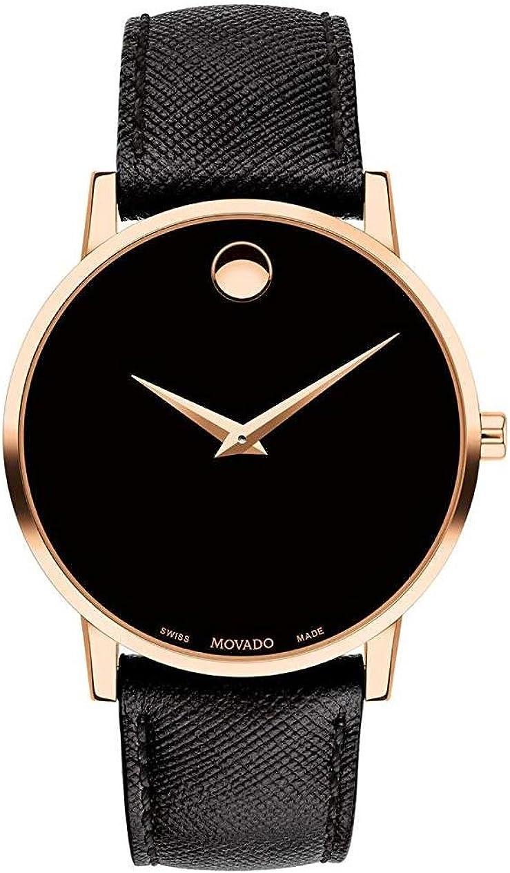 Movado Museum Classic Reloj de hombre cuarzo 40mm correa de cuero 0607196