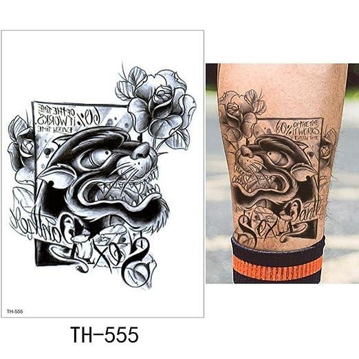adgkitb Etiqueta engomada del Tatuaje Temporal 3pcs Lion TH-555 ...