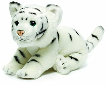 Amazon Com Nat And Jules White Tiger Plush Toy Large Discontinued
