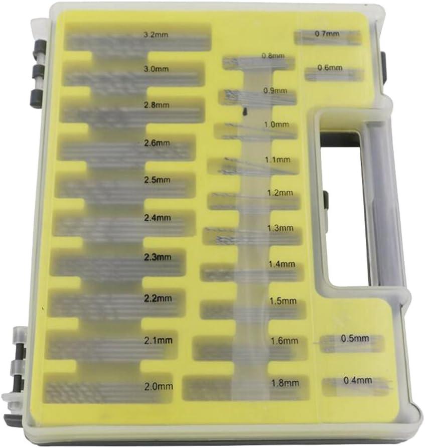 MagiDeal 150pcs Mini Broca Helicoidal Micro Precisi/ón Herramientas de Mano de Jardiner/ía Patio Duradero de 0,4-3,2mm