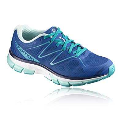 Salomon Damen Sonic W Traillaufschuhe, Blau (Nautical Blue/White/Aruba Blue 55), 42 2/3 EU