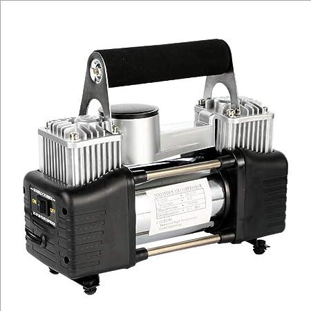 ZZKK Bomba Portable del compresor de Aire, Bomba de Aire Resistente del Cilindro Dual de 150psi, inflador Auto del neumático 12V para el Coche, SUV Grande, ...