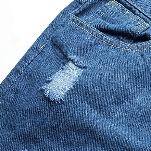 11060 Pour Coupe Hommes Printemps Confortable Bleu Fermeture Trou La Et Kpilp Slim À Décontracté Mode Glissière Pantalon Jeans Eté 54x1xwX7