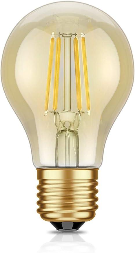 Eglo LED Filament Leuchtmittel Birnenform A60 6,5W = 60W E27 klar warmweiß 2700K