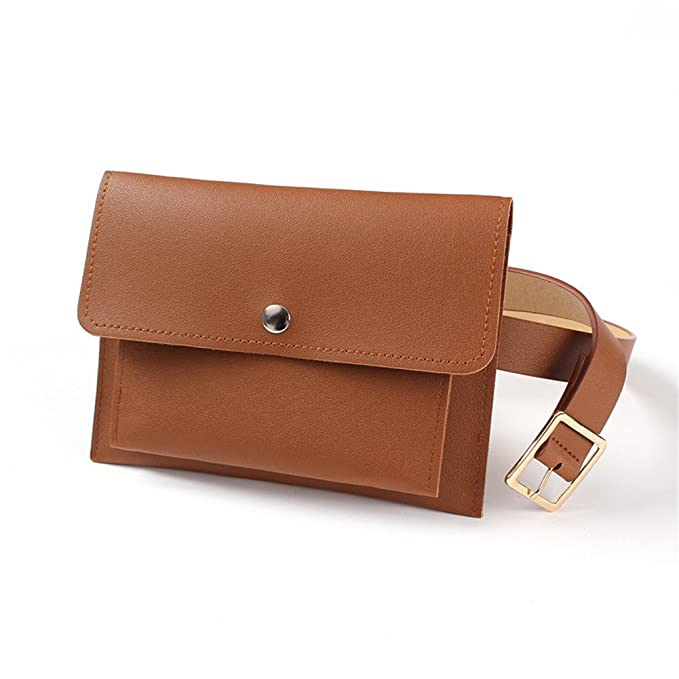 7667e26e868 Classic Trendy Waist Bags Fashion Women Belt Pack Mini Bags Pu Leather  Simple Casual Belt Bags