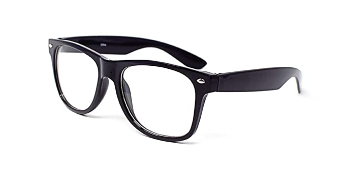 8fc65188ec0 Ultra ® Black Adults Costume Glasses Classic Style Multi Colour Clear Lens  Frames Perfect for Costumes