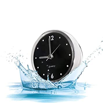 Amazon.de: Kreative Badezimmer Uhr Mini Wasserdichte Uhr mit ...